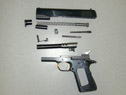 Semiautomatic Pistol Disassembled